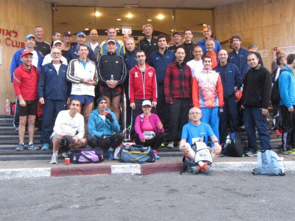 קבוצת רפאל בבוקר המרוץ